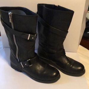 Women's Coach Black Leather Boots